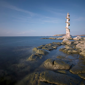 Sisiman Light Tower by Jay-r Pachica - Landscapes Waterscapes
