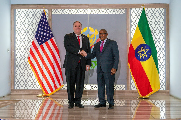 Secretary of State Pompeo when he met with Ethiopian Foreign Minister Gedu Andargachew