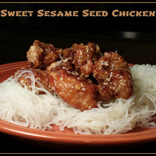 Sweet Sesame Seed Chicken.