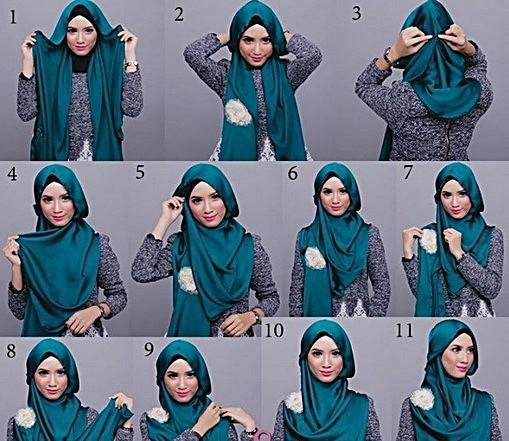 طریقه بستن کالسکه دلیجان New Hijab Styles 2013 - Fashion design images