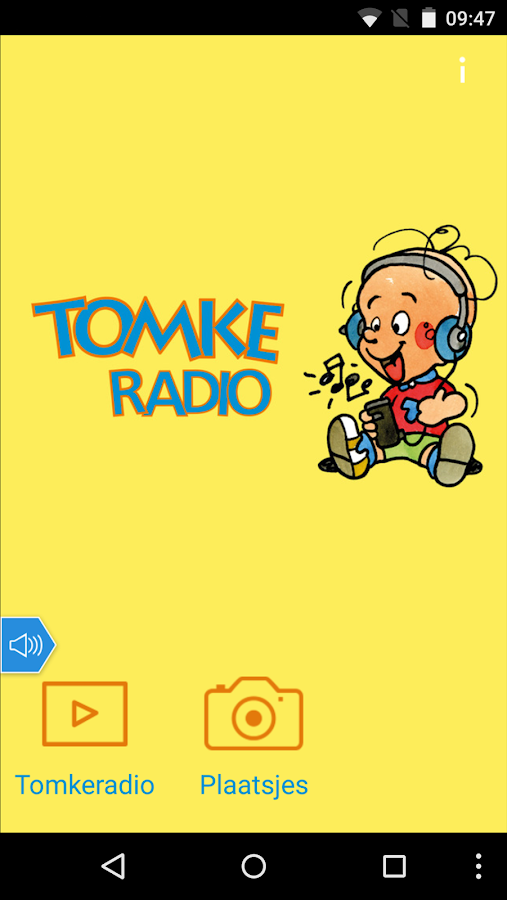 Tomkeradio: screenshot