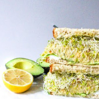 Green Goddess Sandwich with Chickpea Avocado Mash and Goat Cheese Recipe