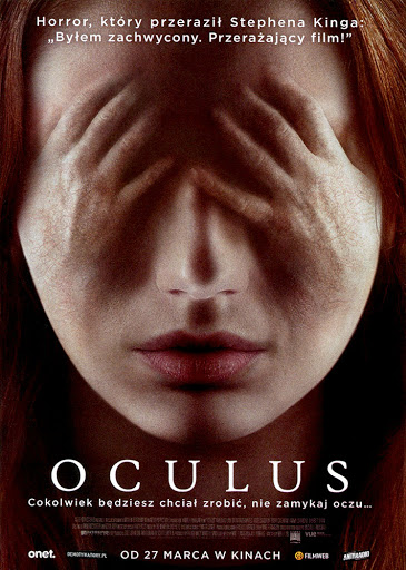 Przód ulotki filmu 'Oculus'