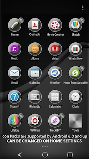Silver Brushed for Xperia- screenshot thumbnail