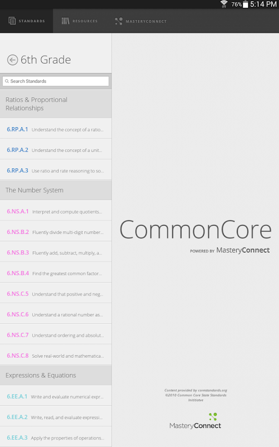 Common Core- screenshot