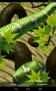 Snake Peek - 3D Snake Live Wallpapers Screenshot