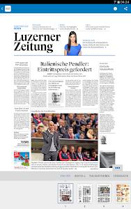 Luzerner Zeitung E-Paper screenshot 1