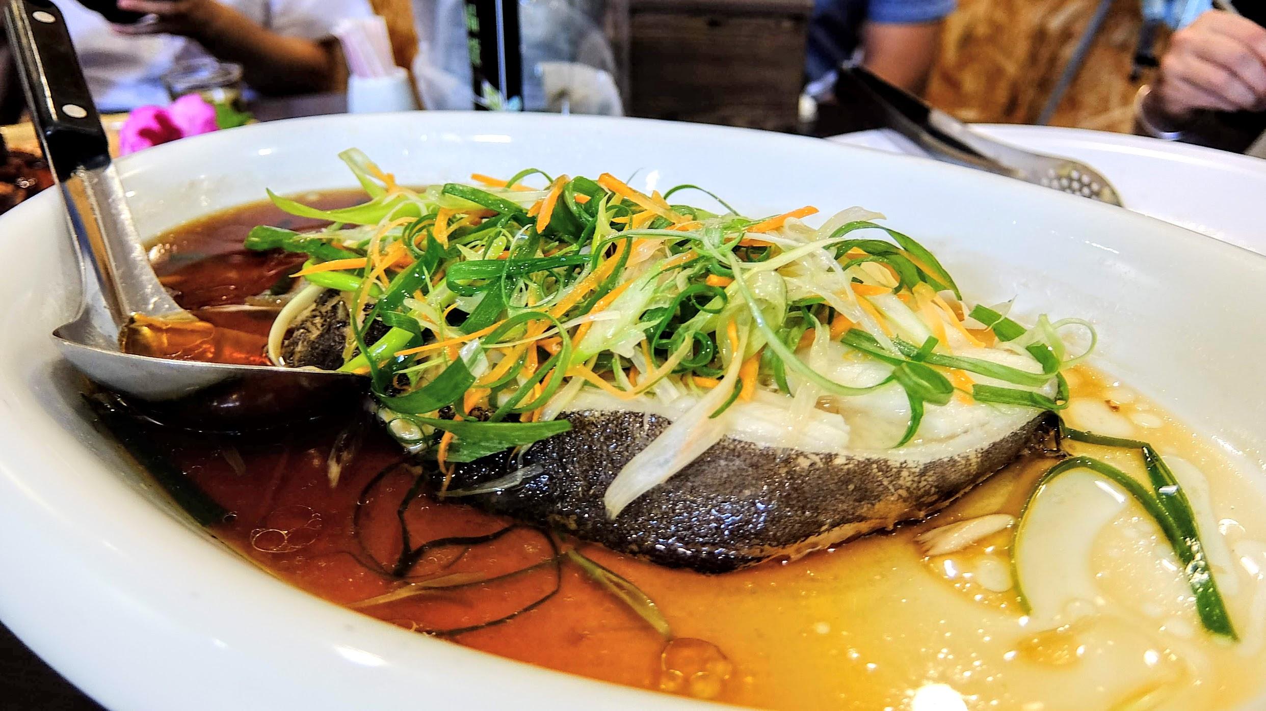 清蒸蔥燒鱈魚