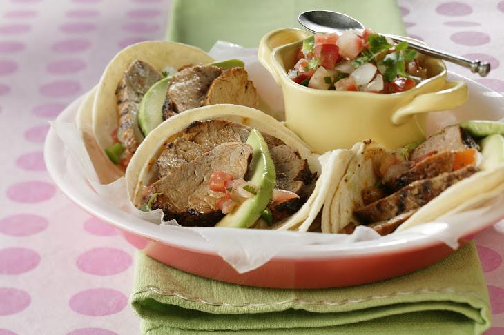 Smoky Pork Tenderloin Tacos Recipe