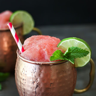 Frozen Watermelon Moscow Mule.