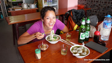 Photo: In Tunxi where food is cheap and delicious