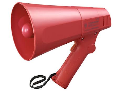 TOA ER-520S   Rös handhållen Megafon med Siren funktion