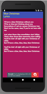 screenshot image - I Ll Have A Blue Christmas Lyrics
