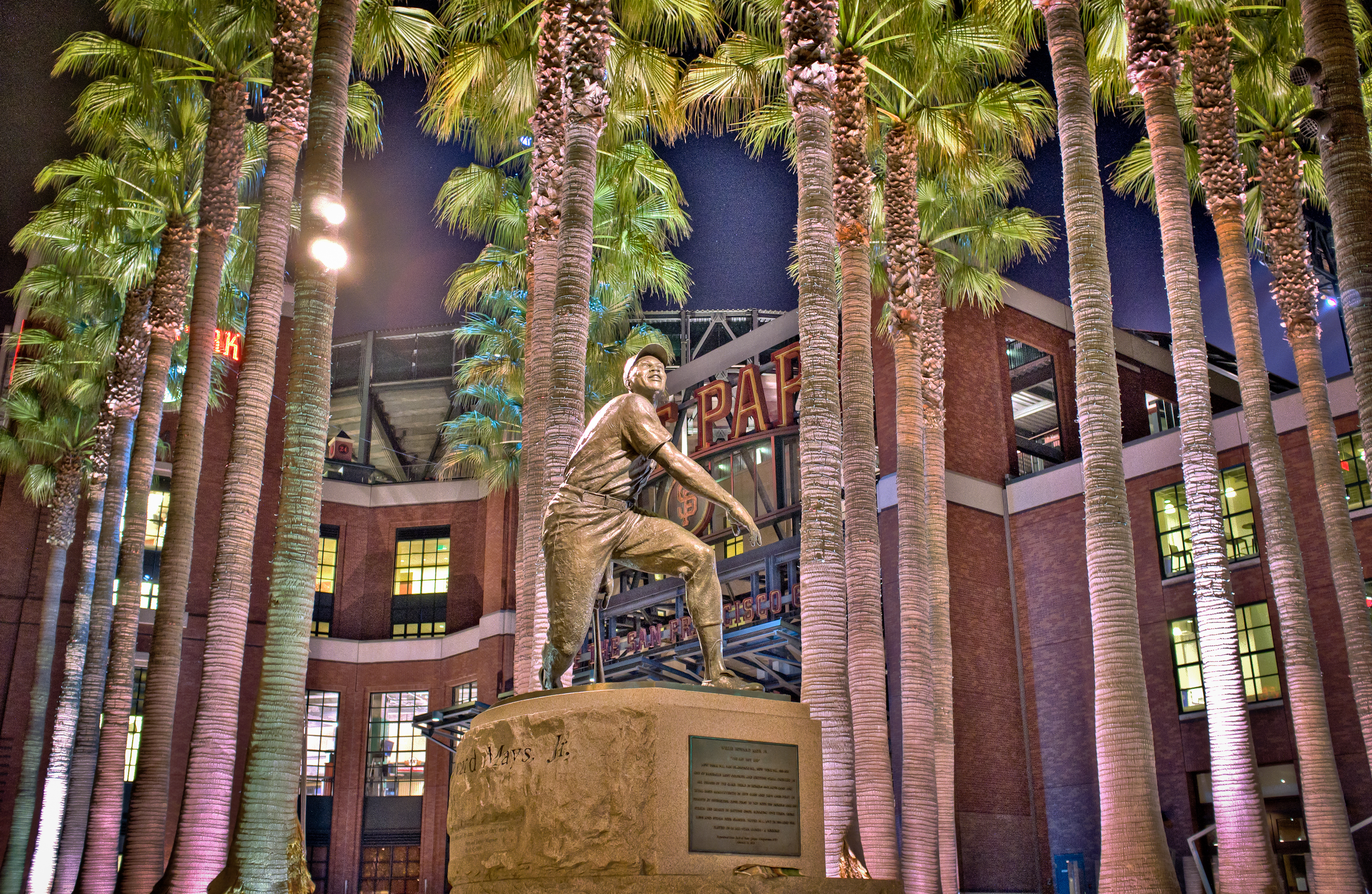 Photo: Willie Mays Plaza Fuji X100 ISO 5000 f/2.8 3 shot HDR, 2 stop separation