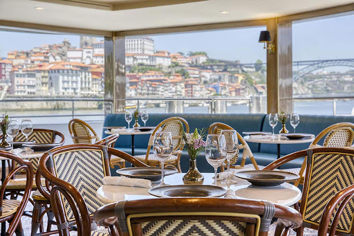 Enjoy a choice of Portuguese dishes and international favorites at the bistro on Uniworld's S.S. Sao Gabriel.