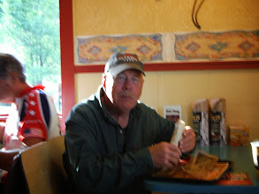 Photo: Day 23 Lusk WY to Hot Springs SD 93 miles, 2300' climbing: Joe Allen our host at Hot Springs having breakfast with us before we leave for Mount Rushmore and Keystone SD