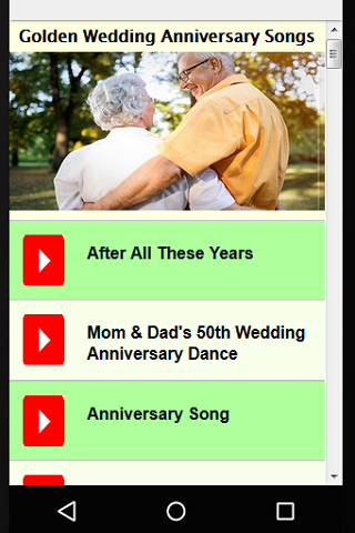 Golden Wedding Anniversary Songs Screenshot