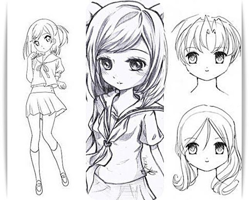 Line Art Apk : Download learn to draw anime girl for pc