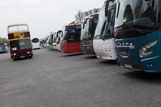 Photo: Tourist bus jam.