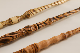 "Photo: Mike Colella 15"" magic wands [oak, twig]"