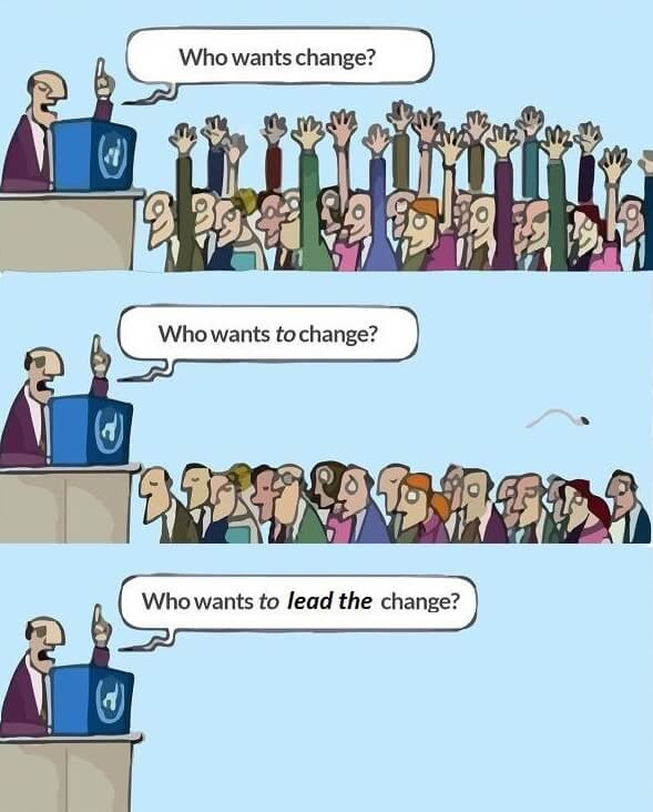 Comic on change.