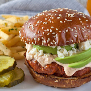 Chorizo Burger with Queso Fresco and Cacique® Chipotle Flavored Sour Cream Recipe