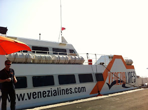 Photo: Leaving Venice for Rovinj, Croatia on this ferry by Venezia Lines.