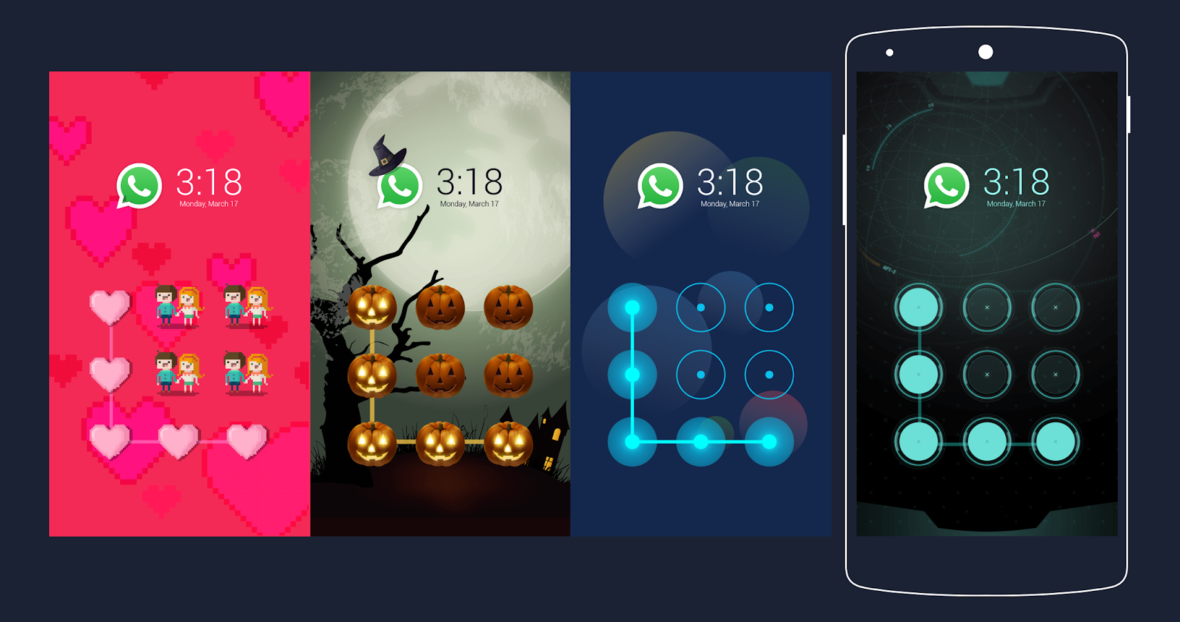 Gmail themes halloween - Halloween Cm Security Theme Screenshot