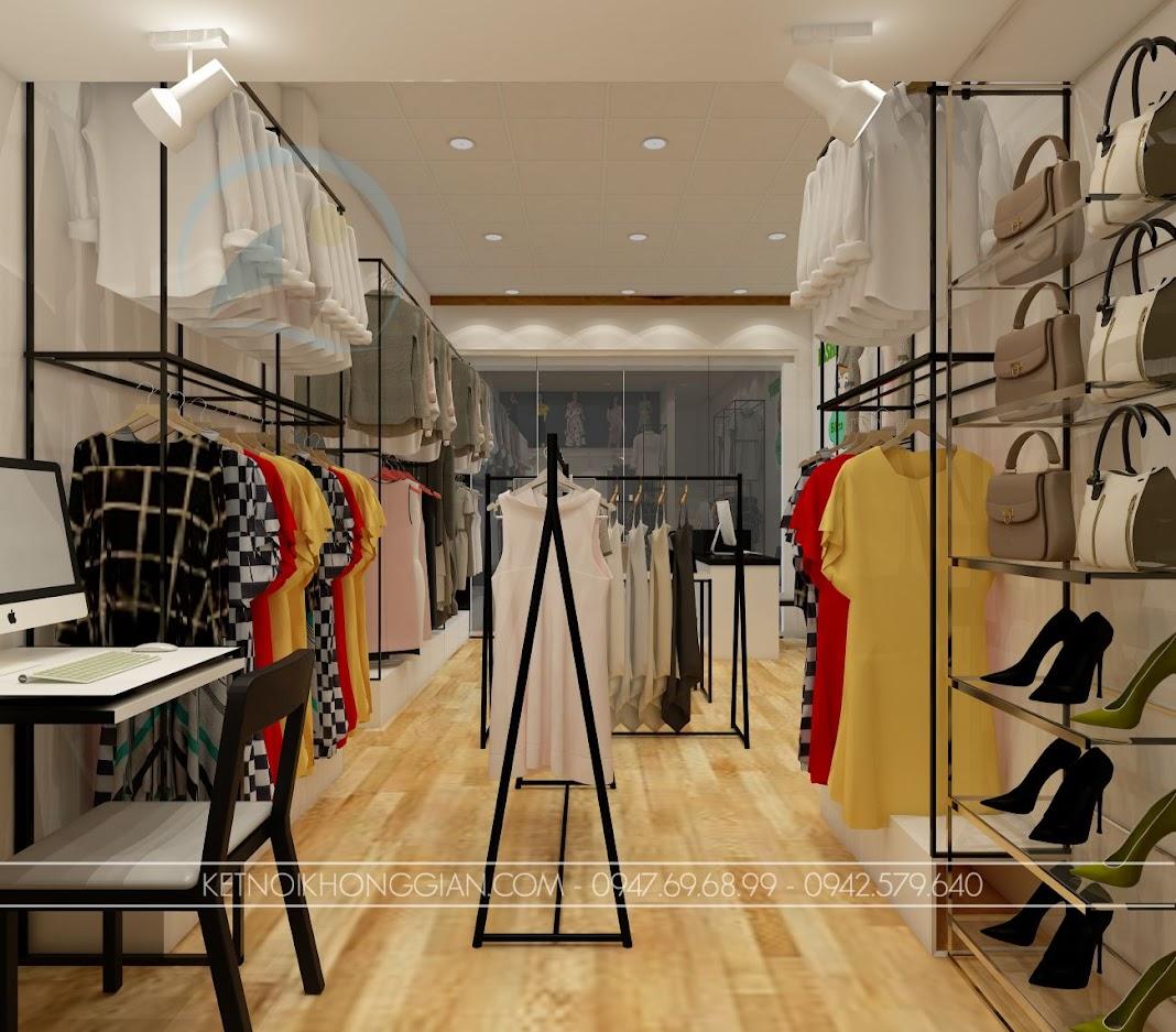 thiết kế shop thời trang mẹ và bé rẻ
