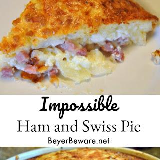 Impossible Ham and Swiss Pie Recipe