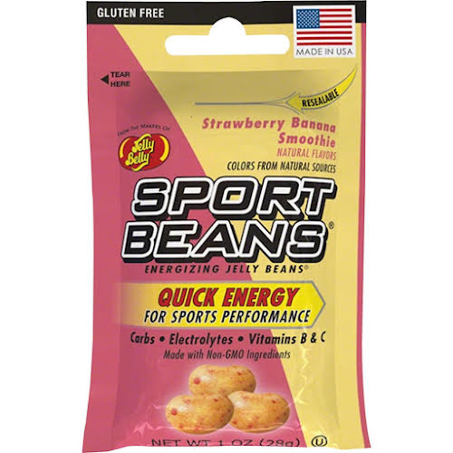 Jelly Belly Sport Beans: Strawberry Banana Smoothie, Box of 24