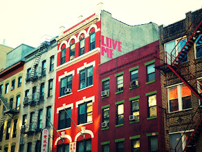 Photo: Love me - street art writing.   Chinatown, New York City.   View the writing that accompanies this post here at this link on Google Plus:  https://plus.google.com/108527329601014444443/posts/TGCPHYtnSP2  View more New York City photography by Vivienne Gucwa here:  http://nythroughthelens.com/