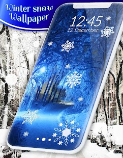 Winter snow wallpaper - náhled