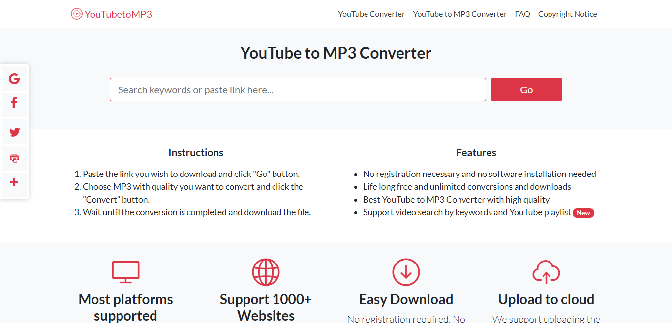 Best youtube to mp3 converter - free youtube to high-quality mp3 converter