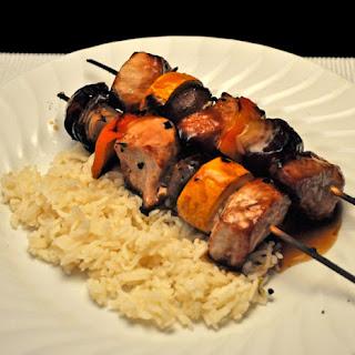 Pork and Vegetable Kebabs, Yakitori-Style