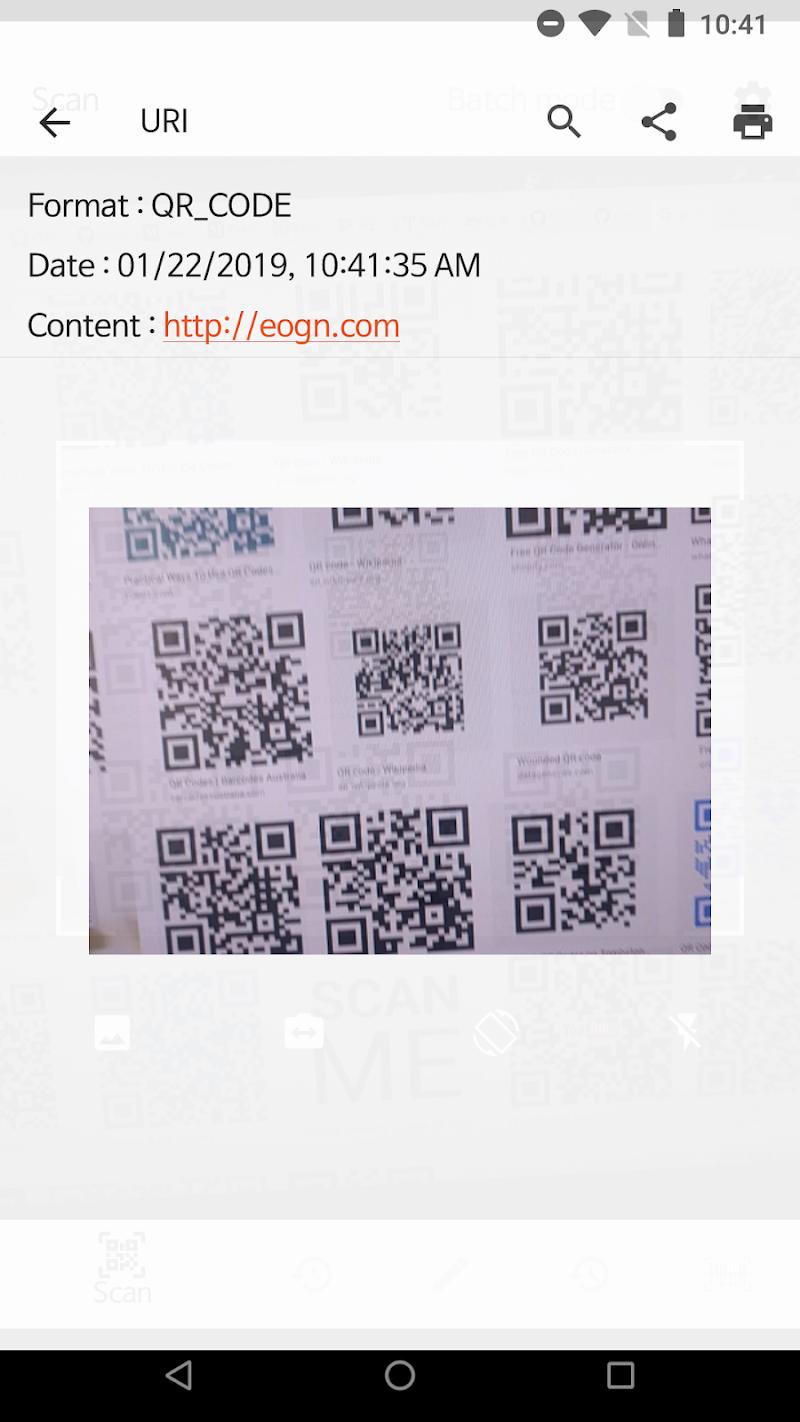 QR BarCode Screenshot 1