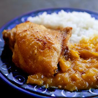 Chicken with Mango Chutney Sauce.