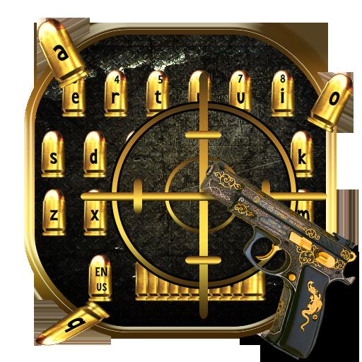Golden Bullet Gun Keyboard