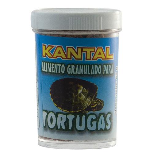alimento para mascotas kantal granulado para tortugas 45gr
