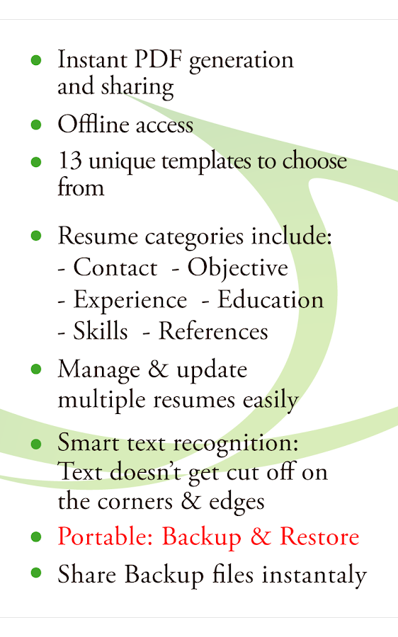 resume builder free android apps on google play