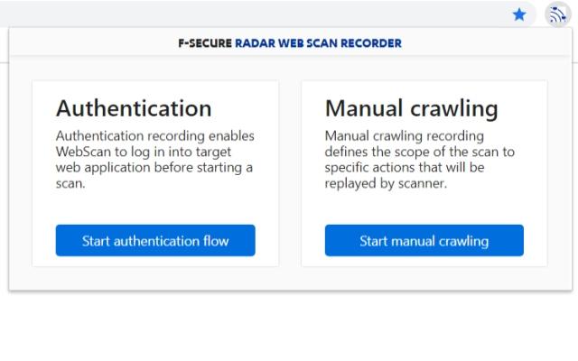 F-Secure Radar Web Scan Recorder