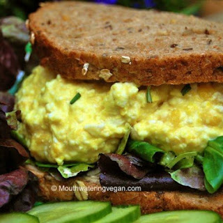 First Proper & Best-Ever Vegan 'Egg Mayonnaise' (Egg Salad) Sandwich