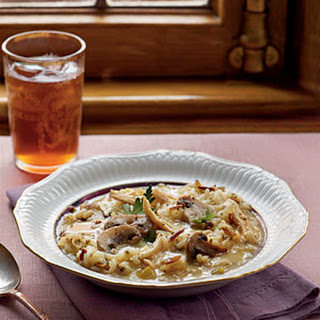 Chicken, Mushroom, and Wild Rice Soup.