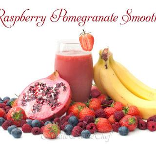 Raspberry Pomegranate Smoothie.