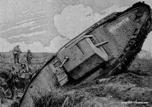 Photo: A Tank With The Name Hyacinth Seen Temporarily Trapped In The Second Trench Sstem Of The Hindenberg Line