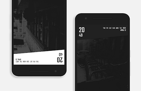 Monochromatic - KWGT & Zooper Screenshot