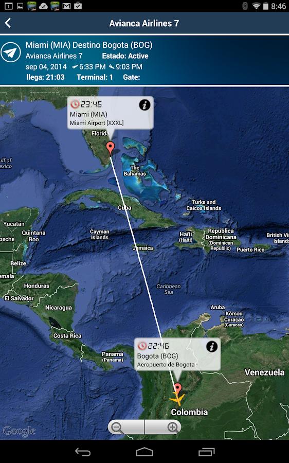 El dorado bogota airport bog flight tracker android apps for Puerta 6 aeropuerto el dorado
