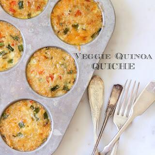 Veggie Quinoa Quiche.