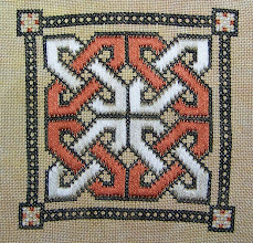 Photo: Completed 5 Feb 2008. This Celtic Knot pattern is from Stitcher's World. It's stitched on a 28ct linen solo from Silkweaver. I used Beige, Sweet Potato and Charcoal cotton floss from Week's Dye Works. Stitch count: 59w x 59h.