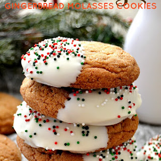 Soft & Chewy Gingerbread Molasses Cookies.